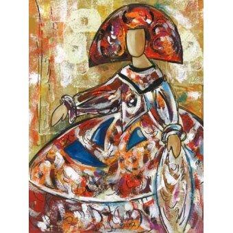 pinturas de retratos - Quadro -Meninas (I)- - Vicente, E. Ricardo