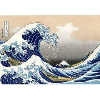 quadros étnicos e orientais - Quadro -Tsunami- - Hokusai, Katsushika