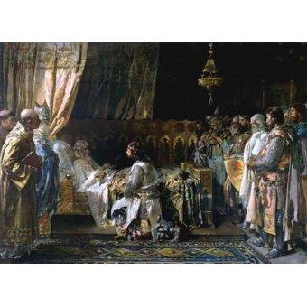 - Quadro -Los ultimos momentos del rey Don Jaime I El Conquistador- - Pinazo y Camarlench, Ignacio