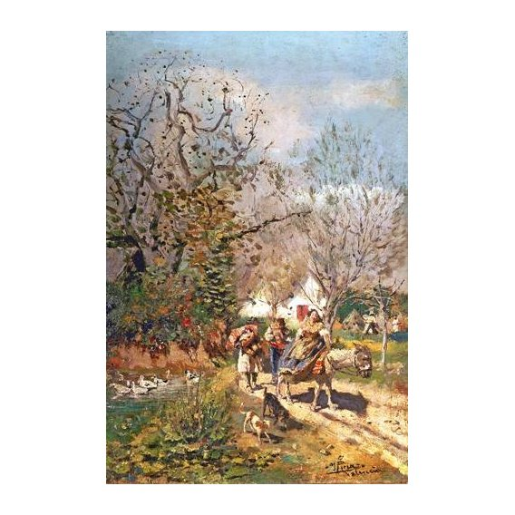pinturas de paisagens - Quadro -Huerta valenciana-