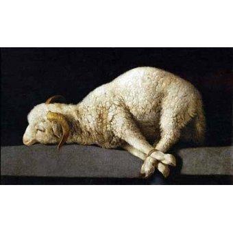 naturezas mortas - Quadro -Agnus Dei, 1635-40- - Zurbaran, Francisco de