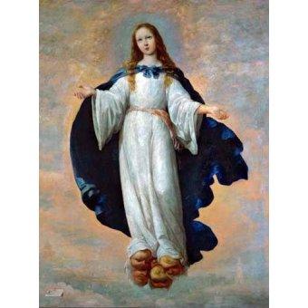 quadros religiosos - Quadro -La Inmaculada Concepcion (Purisima)- - Zurbaran, Francisco de