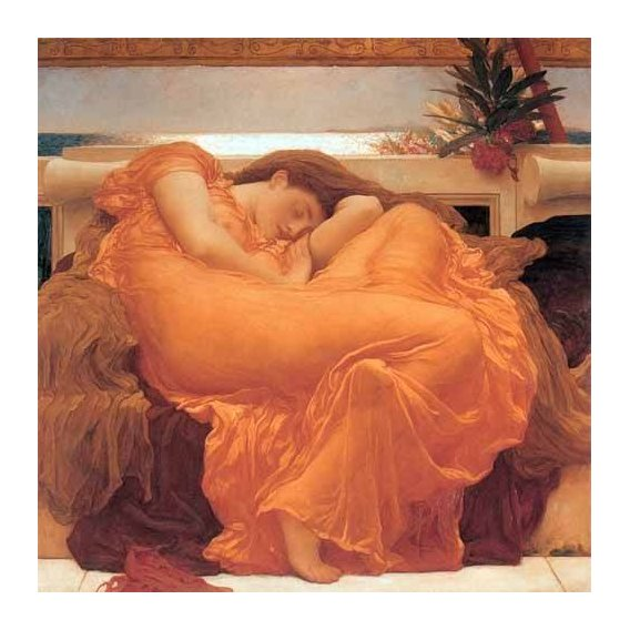 pinturas do retrato - Quadro -Flaming June-
