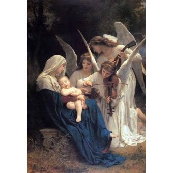 quadros religiosos - Quadro -Song of the Angels- - Bouguereau, William