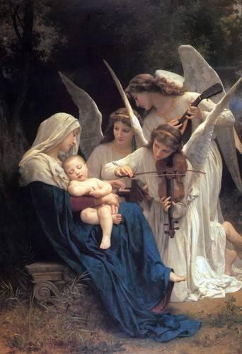 quadros-religiosos - Quadro -Song of the Angels- - Bouguereau, William