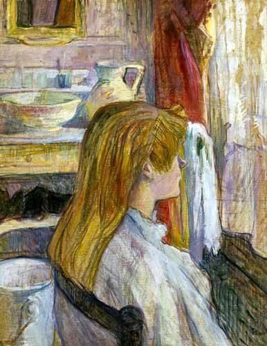 decorative paintings - Picture -Mujer en la ventana- - Toulouse-Lautrec, Henri de