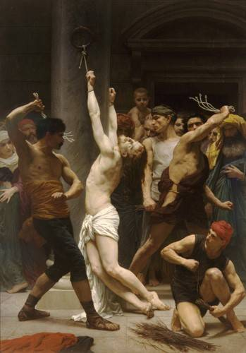 quadros-religiosos - Quadro -Flagellation of Christ- - Bouguereau, William