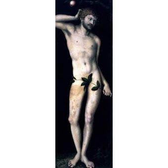 quadros religiosos - Quadro -Adan- - Cranach, Lucas