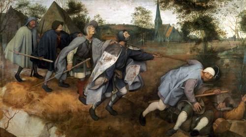 pinturas-de-retratos - Quadro -La parabola de los ciegos- - Bruegel