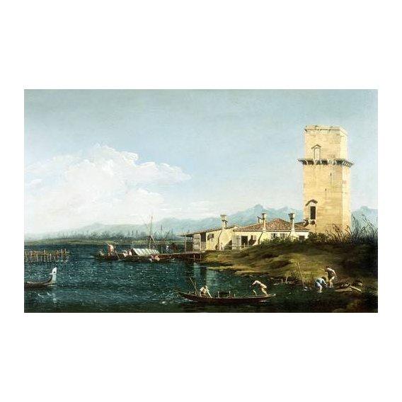 pinturas de paisagens marinhas - Quadro -La torre di Marghera-
