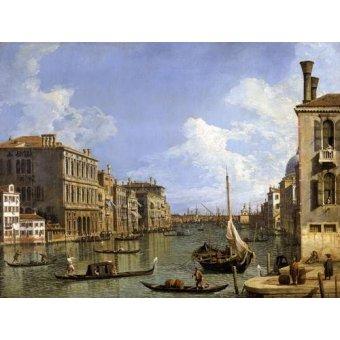 quadros de paisagens marinhas - Quadro -Veduta del canal grande- - Canaletto, Giovanni A. Canal
