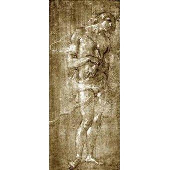 imagens de mapas, gravuras e aquarelas - Quadro -Figura masculina- - Botticelli, Alessandro