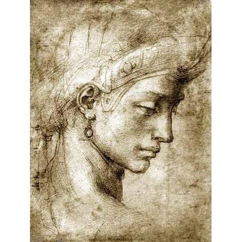 Quadro -Cabeza femenina con pendiente-