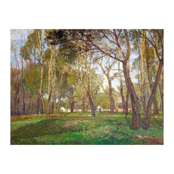 pinturas de paisagens - Quadro -Prater Gardens in Vienna-