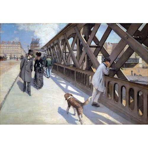 Quadro -Le Pont De L Europe, Paris, 1876-