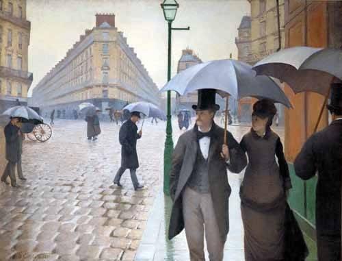 quadros-de-paisagens - Quadro -Rue De Paris, Temps de pluie- - Caillebotte, Gustave