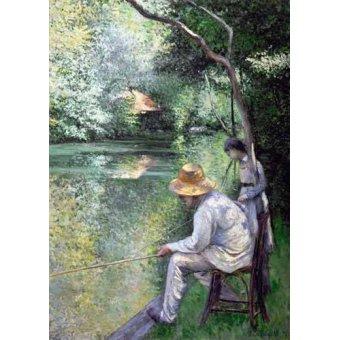 - Quadro -Peche a la ligne - Angling, 1878- - Caillebotte, Gustave