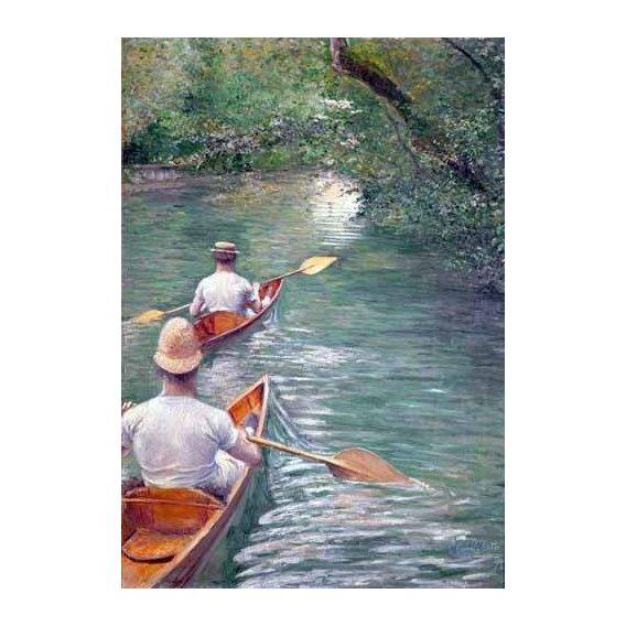 pinturas de paisagens - Quadro -The Canoes, 1878-