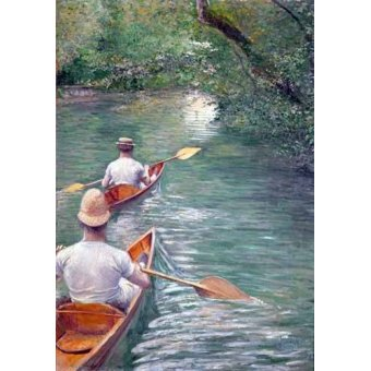 - Quadro -The Canoes, 1878- - Caillebotte, Gustave