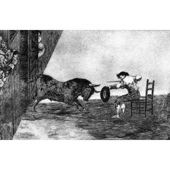 imagens de mapas, gravuras e aquarelas - Quadro -Tauromaquia Num 18 - Temeridad de Martincho- - Goya y Lucientes, Francisco de