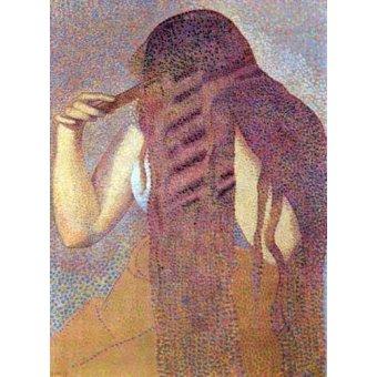 pinturas de retratos - Quadro -La cabellera, 1892- - Cross, Henri Edmond
