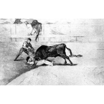 imagens de mapas, gravuras e aquarelas - Quadro -Tauromaquia Num 33 - Desgraciada muerte de Pepe Illo- - Goya y Lucientes, Francisco de
