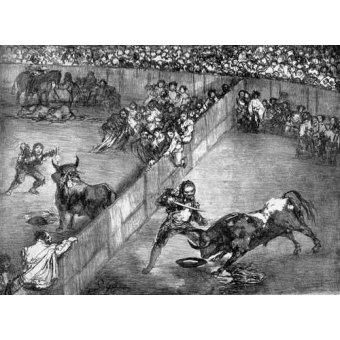 imagens de mapas, gravuras e aquarelas - Quadro -Plaza partida- - Goya y Lucientes, Francisco de