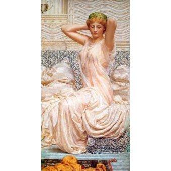 pinturas de retratos - Quadro -Silver- - Moore, Albert Joseph