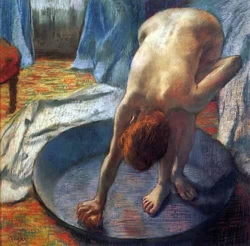 decorative paintings - Picture -La tina- - Degas, Edgar