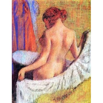 quadros nu artistico - Quadro -Después del baño- - Degas, Edgar