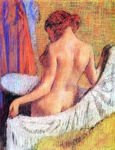 cuadros decorativos - Cuadro -Después del baño- - Degas, Edgar