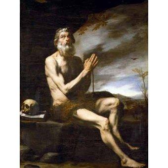 quadros religiosos - Quadro -San Pablo Ermitaño- - Ribera, Jose de