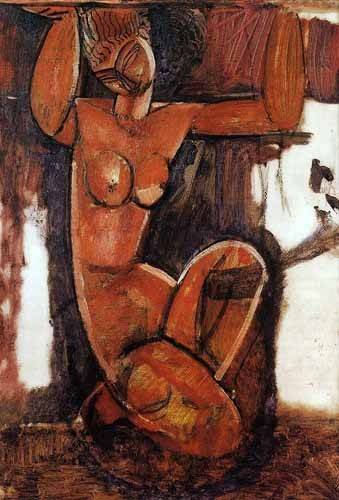 cuadros-decorativos - Quadro -Cariátide-1- - Modigliani, Amedeo