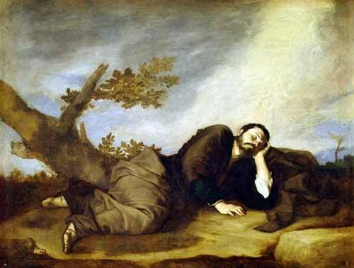 quadros-religiosos - Quadro -El Sueño De Jacob- - Ribera, Jose de