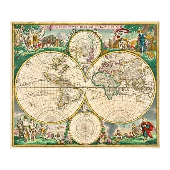 imagens de mapas, gravuras e aquarelas - Quadro -Nova Orbis de Wit, 1670-