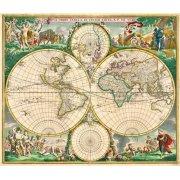 Quadro -Nova Orbis de Wit, 1670-