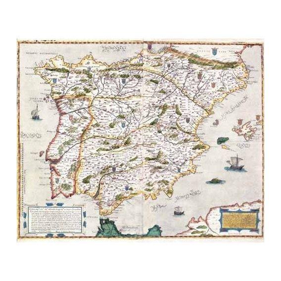 cuadros de mapas, grabados y acuarelas - Cuadro -España antiguo-1 -