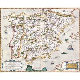 imagens de mapas, gravuras e aquarelas - Quadro -España antiguo-1 - - Mapas antiguos - Anciennes cartes