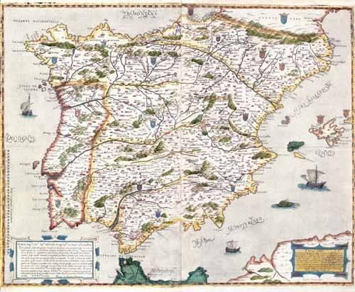 cuadros de mapas, grabados y acuarelas - Cuadro -España antiguo-1 - - Mapas antiguos