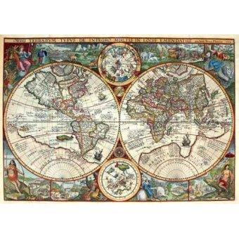imagens de mapas, gravuras e aquarelas - Quadro -1594, Orbis Plancius- - Mapas antiguos - Anciennes cartes
