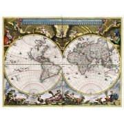 Cuadro -Nova et Accuratissima Terrarum Orbis Tabula (J_Blaeu, 1664)-