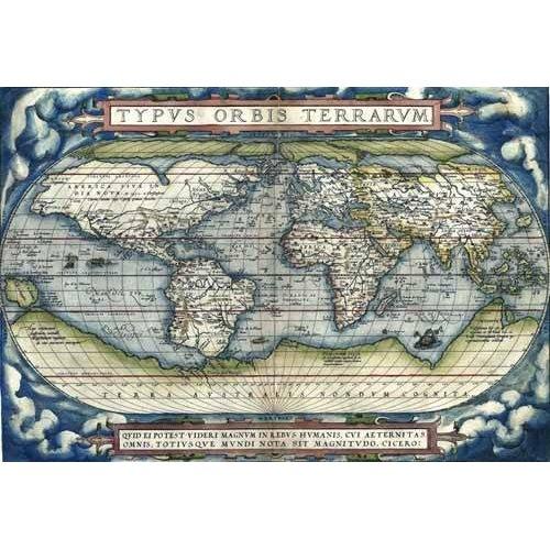 Quadro -Ortelius World Map, 1570-