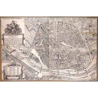 - Quadro -Plano de Valencia del Padre Tosca, 1704- - Mapas antigos - Anciennes cartes