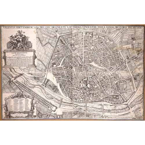 Quadro -Plano de Valencia del Padre Tosca, 1704-