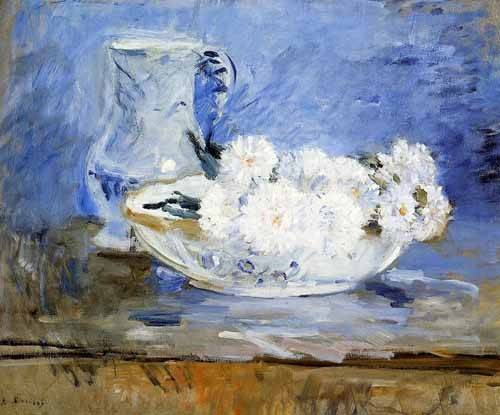 quadros decorativos - Quadro -Margaritas- - Morisot, Berthe