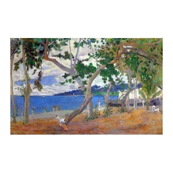 pinturas de paisagens marinhas - Quadro -Sea shore, 1887-