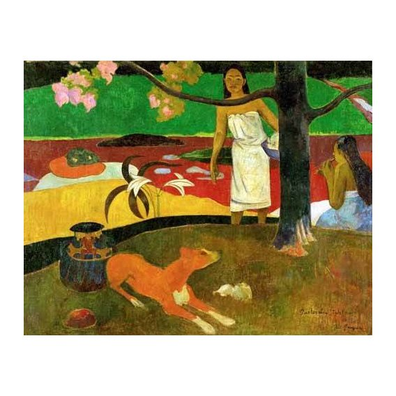 pinturas de paisagens - Quadro -Tahitian Idyll-
