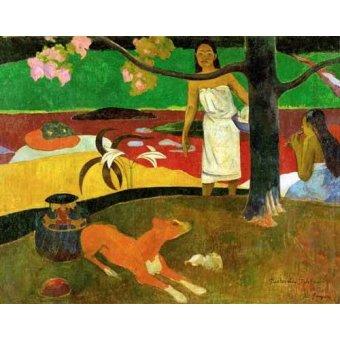 - Quadro -Tahitian Idyll- - Gauguin, Paul