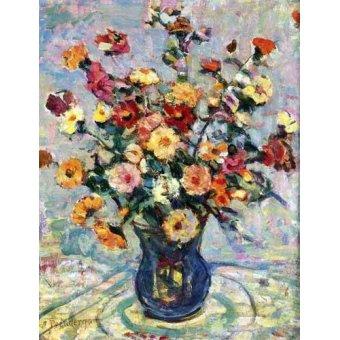 - Quadro -Bodegón con flores- - Prendergast, Maurice