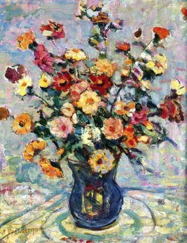 decorative paintings - Picture -Bodegón con flores- - Prendergast, Maurice